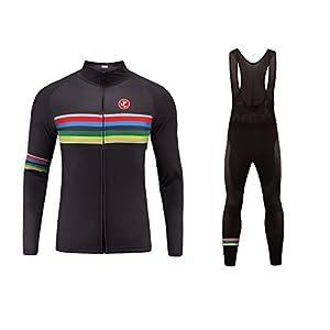 41kgABOqOHL. SS300 Uglyfrog 2018 Abbigliamento Ciclismo Completo Invernale Magliette Sportivo per Bicicletta Maglia Manica Lunga+Pantaloni Lunghi Set WMZ07
