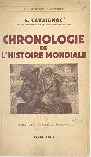 Chronologie de l'histoire mondiale par Eugène Cavaignac