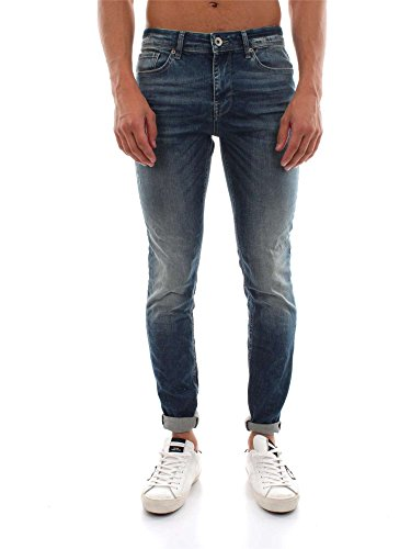 SELECTED 16052572 L.34 TWO MARIO MEDIUM BLUE DENIM JEANS Uomo MEDIUM BLUE DENIM 30