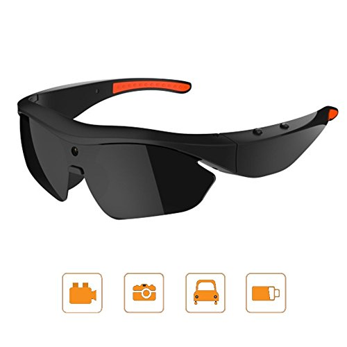 Bone Conduction Sportbrillen, Handfree Sonnenbrille Smart Kamera Brille, Mit 1080P Outdoor-Sport HD-Videogläser Videokamera Sonnenbrille