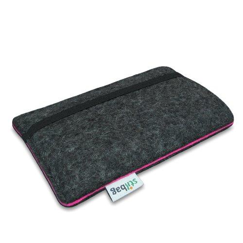 Stilbag Filztasche 'FINN' für Apple iPhone 4/4S - Farbe: hellgrau/lachs anthrazit/pink