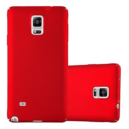 Cadorabo Hülle für Samsung Galaxy Note 4 - Hülle in Metall ROT - Hardcase Handyhülle im Matt Metal Design - Schutzhülle Bumper Back Case Cover Samsung-metal-handy