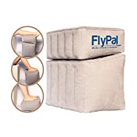 "Flypal Inflatable Foot Rest for Travel, Home and Office and Blow-Up Pillow Cushion for Kids to Sleep on Long Flights, 17""x11""x17"", Grey"