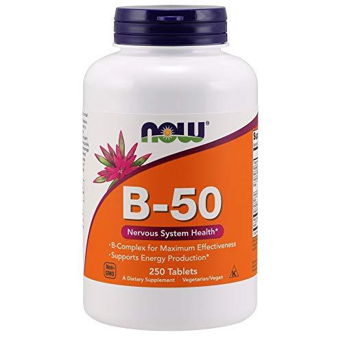 B-50-komplex 250 Tabletten (Now Foods, Vitamin B-50, Komplexpräparat, vegetarisch, vegan, 250 Tabletten)