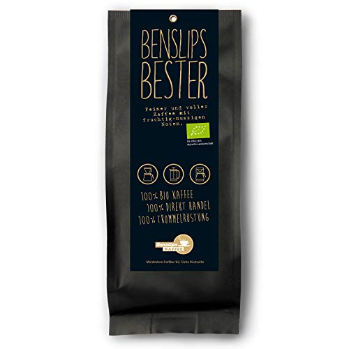 Benslips Bio Kaffee | Benslips Bester | Gemahlen Filterkaffee 1000g | FAIR TRADE - Kaffeebohnen Manufakturröstung in Kleinstchargen