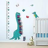 ufengke Stickers Muraux Toises Dinosaures Autocollants Mural Croissance Livres pour Chambre Enfants Bébé Pépinière Salon Décoration Murale