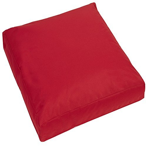 Jumbo Large Waterproof Water Resistant Outdoor Cushion Garden Patio Chair  Seat Cover Pads Plush Padded Pillow (Red)
