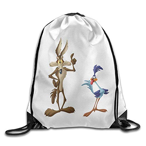 ex Gym Bag Wile E Coyote and Road Runner Looney Tunes Gym Drawstring Bags Backpack ()