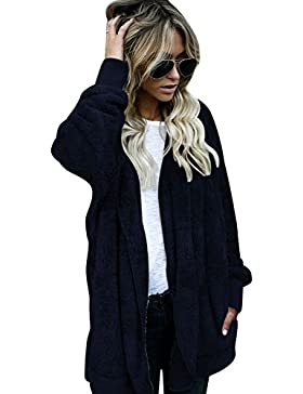 [Patrocinado]SHOBDW Mujeres encapuchados chaqueta de abrigo largo abrigos parka outwear Cardigan chaqueta
