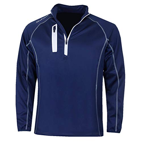 Island Green Herren Golf IGTOP1877 HZ Kontrast Flatlock Sweater - Ink/Blau XXXL (Golf-pullover Blau)