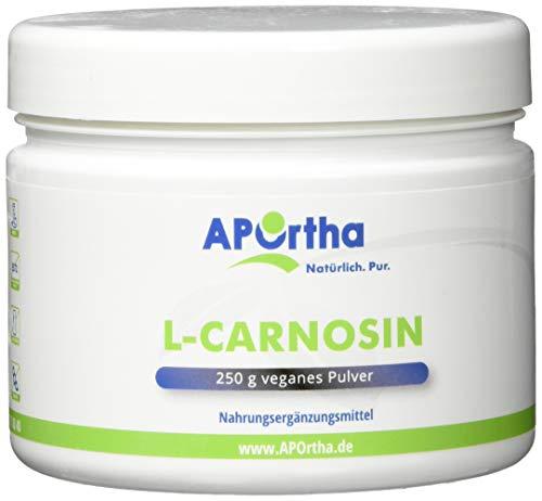 APOrtha L-Carnosin | 250g Dose | veganes Pulver | 100{fcb95df23480162fed2460a96a1b21bebf1aeb86993049f189b9077936af570e} reines L-Carnosin