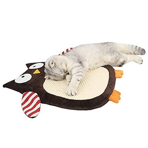 Zuckerti NEUF Stlyes Cat Grattoir en carton jouet Grattoir Lounge Chaise longue avec ensemble de centre d'activités Herbe à chat gratuit avec Heavy Duty en sisal 40x