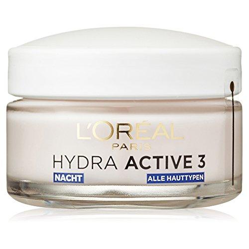 L'Oreal Paris Hydra Active 3 Nachtpflege, mit Omega 3 für alle Hauttypen, spendet intensiv...
