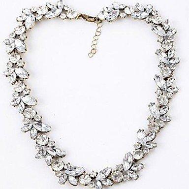 MGS-Halsketten Schmuck @ Damen Stränge Halsketten Aleación Imitation Diamant Geburtssteine Weiß Schmuck Hochzeit Party Alltag , white (Imitation Diamant-halskette)