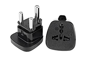 South Africa Plug Adaptor By aPlug. Pack of 2 - UK To South Africa Adapter - Works Throughout South Africa - Super Reliable. South Africa Travel Adaptor