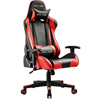 GTPLAYER Gaming Chair Office Racing Chairs Leatherette Executive Height Adjustable Desk Chair