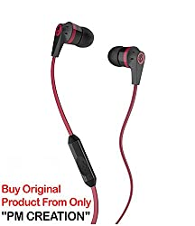 PM Skullcandy in Ear Supreme Sound Bass Headphones Inkd 2.0 W/MIC (Red)