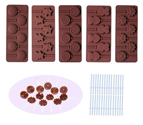 9ea2426161b BAKER DEPOT Silicone chocolate Lollipop Mold with 6 Holes