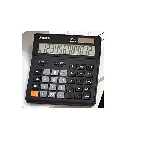 ZUEN Solarrechner Großbild 12-Stelliger Taschenrechner Desktop Office-Taschenrechner,B (4 Funktions-solar-taschenrechner)