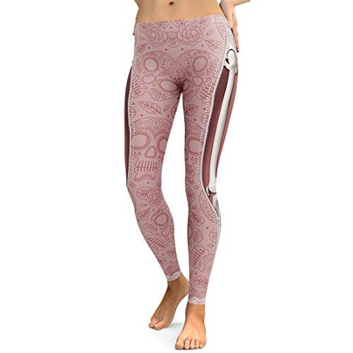 Jiayiqi Mechanische Knochen Leggings Digital Print Strumpfhosen Für Frauen Einheitsgröße