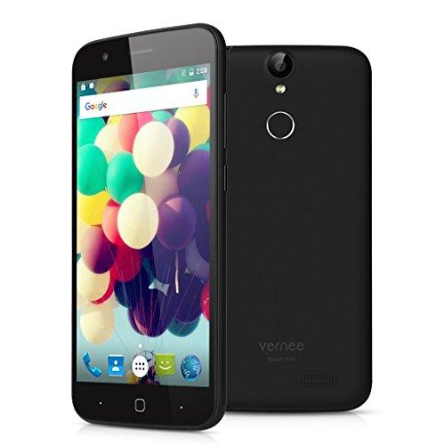 "Vernee Thor 4G Lte - Smartphone Libre Android 6.0 (5.0"" HD, Octa Core, Dual Sim, 3Gb Ram 16Gb Rom, 13Mp Camara, Huellas Dactilares, Carga Rapida) (Negro)"