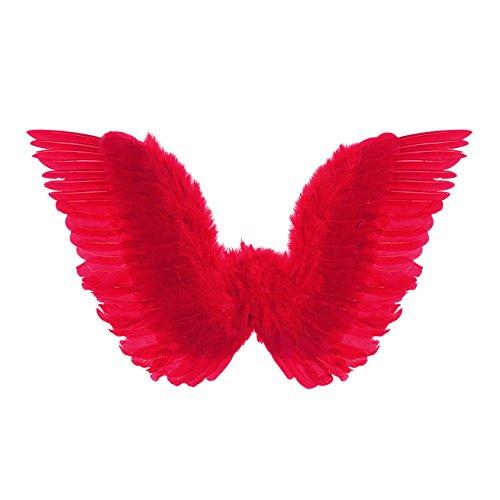 Widmann 8672H Feder Flügel, rot, One (Kostüme Motto Casino Party)