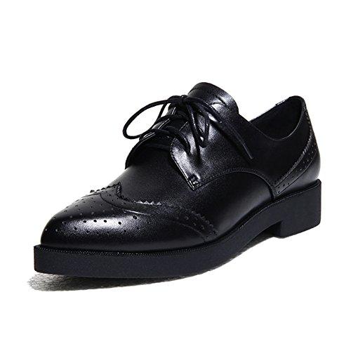 Scarpe scure/Take Inghilterra punta tacco/Scarpe donne di grandi dimensioni/ d'affari-A Lunghezza piede=23.8CM(9.4Inch)