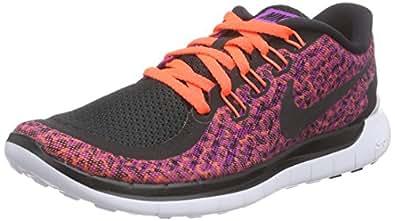 Nike Free 5.0 Print, Chaussures de Course Femmes Violet Violet 37.5