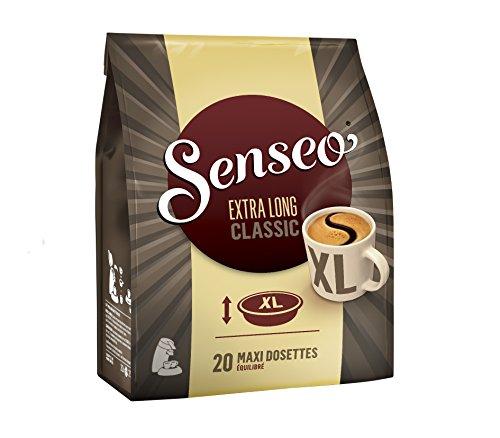 SENSEO Café Extra Long Classique 20 dosettes souples -...