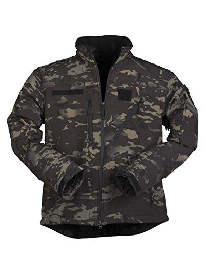 Mil-Tec Softshell Jacke SCU 14 multitarn Black Gr.XL