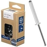 Bralo S1010BL4010 - Remache aluminio blanco minicaja 50pcs. 4x10 B