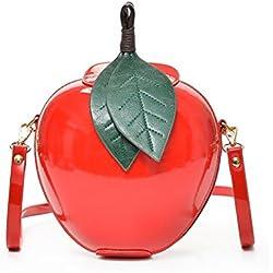 OHQ Sac à BandoulièRe GlissièRe Messenger Bag Rouge Vert Femmes Mode Main Zipper Fourre-Tout Dames Casual Tote Messenger Sacs (rouge)