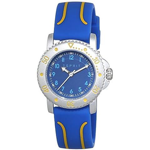 ESPRIT Diving Club ES108334001de plástico unisex reloj de cuarzo con Esfera Analógica Azul Pantalla y oro