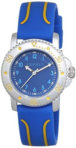 Esprit Unisex-Child Quartz Watch, Analogue Classic Display and Silicone Strap ES108334001