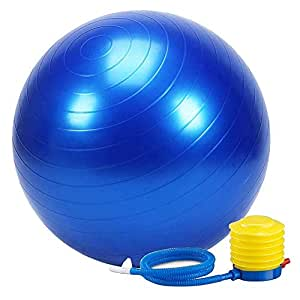 SANAT Anti-Burst Exercise Gym Ball 75cm with Pump, Anti-Slip Balance Stability Ball, Heavy Duty Fitness Yoga Ball, Extra Thick Swiss Birthing Ball, Exercise Equipment for Home, Exercise Ball (Pack-1)