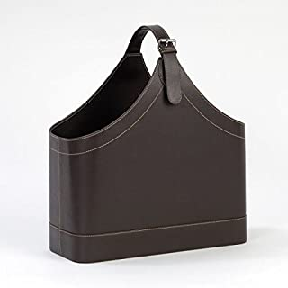 Andrea House–Leather Effect Magazine Holder, 40x 17x 45cm (AX6738)