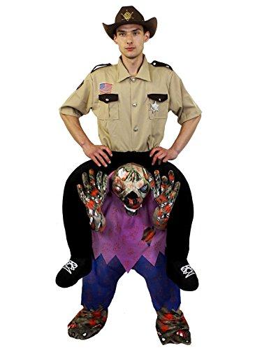 PICK ME UP ZOMBIE UNTERTEIL DER VON EINEM POLIZISTEN/SHERIFF INS GEFÄNGNISS GERITTEN WIRD = EIN ZOMBIE DER EINEN SHERIFF TRÄGT =DIE PERFEKTE VERKLEIDUNG AN HALLOWEEN UND FASCHING UND KARNEVAL PARTY=VON (Gruppe Halloween Große Kostüme Lustige)