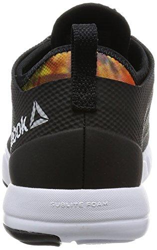 Reebok Cardio Inspire Low 2.0, Chaussures de Sport Femme, Multicolore Noir / Blanc / Orange (Black/White / Electric Peach / Graphic)