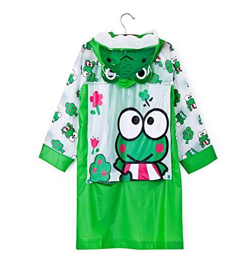 WFXZT Regenmantel für Kinder, Wasserdichter Kinderanzug mit Tasche, Cartoon Regenmantel,D,M