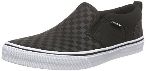 Vans Asher, Jungen Sneakers, Schwarz (checker/black/black), 39 EU (Jungen Vans Slip On Schuhe)