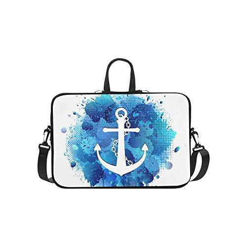 Anker-weiße Ikonen-Kette auf abstraktem Aktenkoffer-Laptoptasche-Kurier-Schulter-Arbeitstasche Crossbody-Handtasche für das Geschäftsreisen