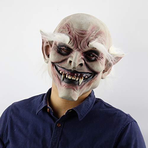 Halloween-Maske, Vampir-Maske, Horror-Teufelsmaske Für Männer, Prank-Maske, Sichere Latex-Halbmaske Für Halloween-Kostüm Party Und Maskerade (Für Kostüme Vampir Männer)