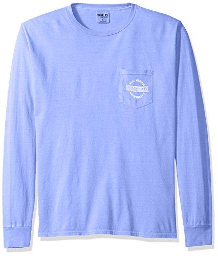 Blue 84 NCAA gefärbt ringgesponnene Longsleeve Tee mit Pocket, Unisex - Erwachsene, NCAA Dyed Ringspun Longsleeve Tee with Pocket, Periwinkle, Medium - Ringspun-fußball-t-shirt