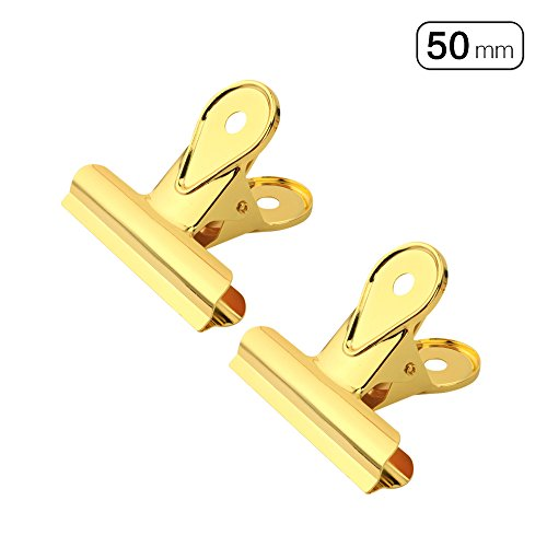 5 x/lot Gold Metall Binder Clip Briefpapier Clip 30 mm 50 mm