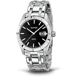 Clock Eberhard acquadate 41015Breaker quandrante Black Strap Stainless Steel