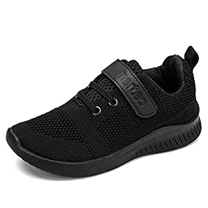 HKR Kid's Trainers Boys Girls Running Shoes Unisex Hook and Loop Walking Shoes Sports Tennis School Sneakers