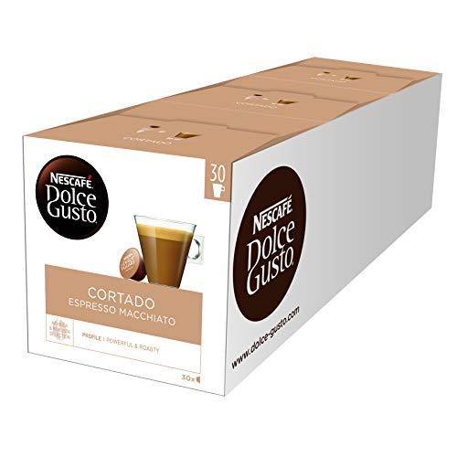 NESCAFÉ DOLCE GUSTO Cortado Espresso Macchiato Coffee Pods, 30 Capsules (Pack of 3 - Total 90 Capsules, 90 Servings)