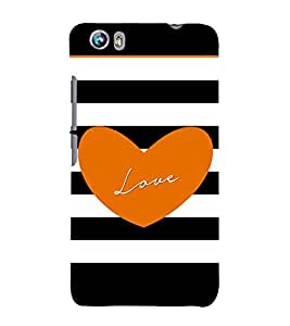 Fiobs Designer Phone Back Case Cover Micromax Canvas Fire 4 A107 ( Loves Arts )