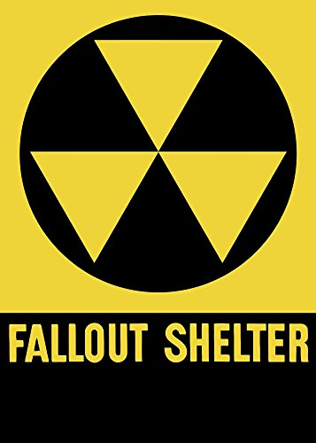 k Images – Cold War era fallout shelter sign. Photo Print (29,97 x 41,91 cm) (Fallout Shelter Sign)