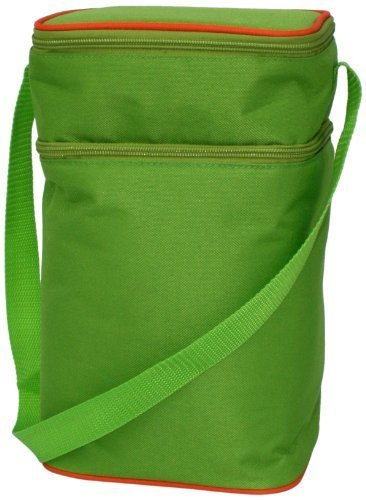 jl-childress-6-bottle-cooler-tote-bag-green-orange-by-jl-childress